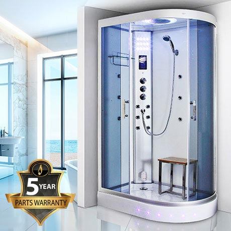 Insignia - 1200mm Steam Shower Cabin with White Backwalls - GT5000W
