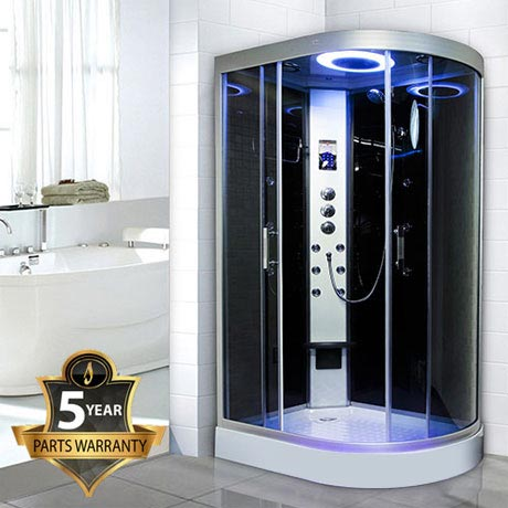 Insignia - Hydro-Massage Shower Cabin with Black Backwalls - GT9002B