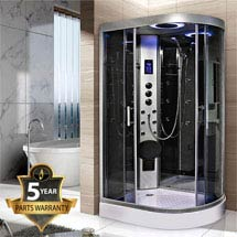 Insignia - Hydro-Massage Shower Cabin with Mirrored Backwalls - GT9002M Medium Image