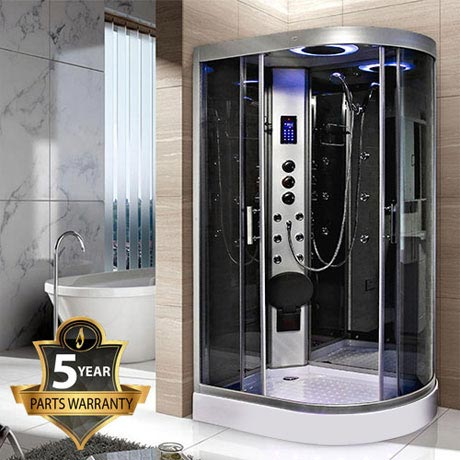 Insignia - Hydro-Massage Shower Cabin with Mirrored Backwalls - GT9002M