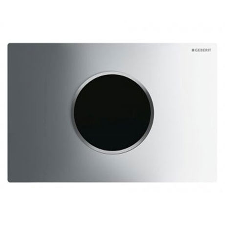 Geberit Sigma 10 Gloss Chrome + Matt Chrome Touchless Automatic Flush for UP320 Cistern