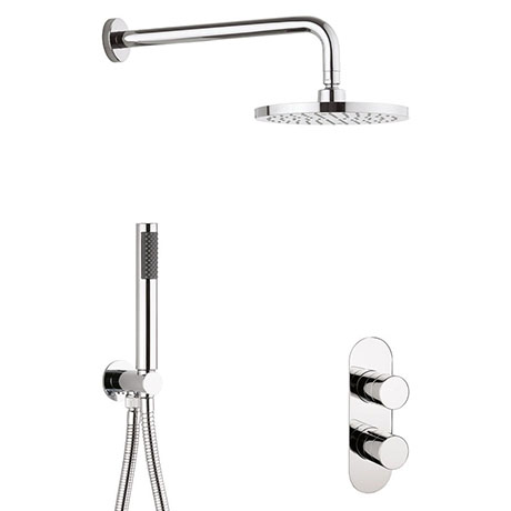 Crosswater Central Chrome 2 Outlet 2-Handle Shower Bundle