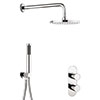 Crosswater Central Chrome 2 Outlet 2-Handle Shower Bundle profile small image view 1
