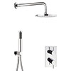 Crosswater Kai 2 Outlet 2-Handle Shower Bundle profile small image view 1