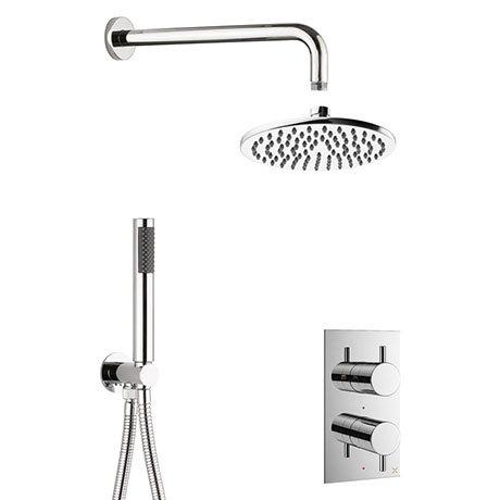 Crosswater MPRO Chrome 2 Outlet 2-Handle Shower Bundle