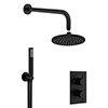 Crosswater MPRO Matt Black 2 Outlet 2-Handle Shower Bundle profile small image view 1