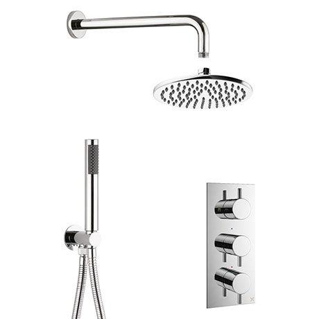 Crosswater MPRO Chrome 2 Outlet 3-Handle Shower Bundle