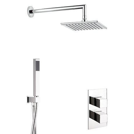 Crosswater Water Square 2 Outlet 2-Handle Shower Bundle