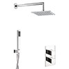 Crosswater Water Square 2 Outlet 2-Handle Shower Bundle profile small image view 1
