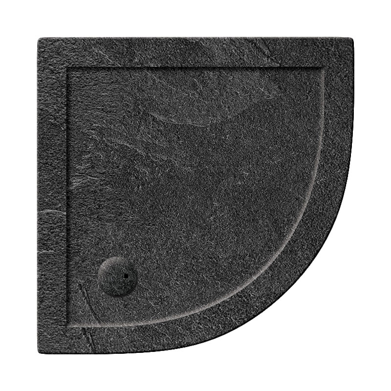 Simpsons Quadrant 35mm Grey Slate Acrylic Shower Tray with Waste - Various Size Options Large Image