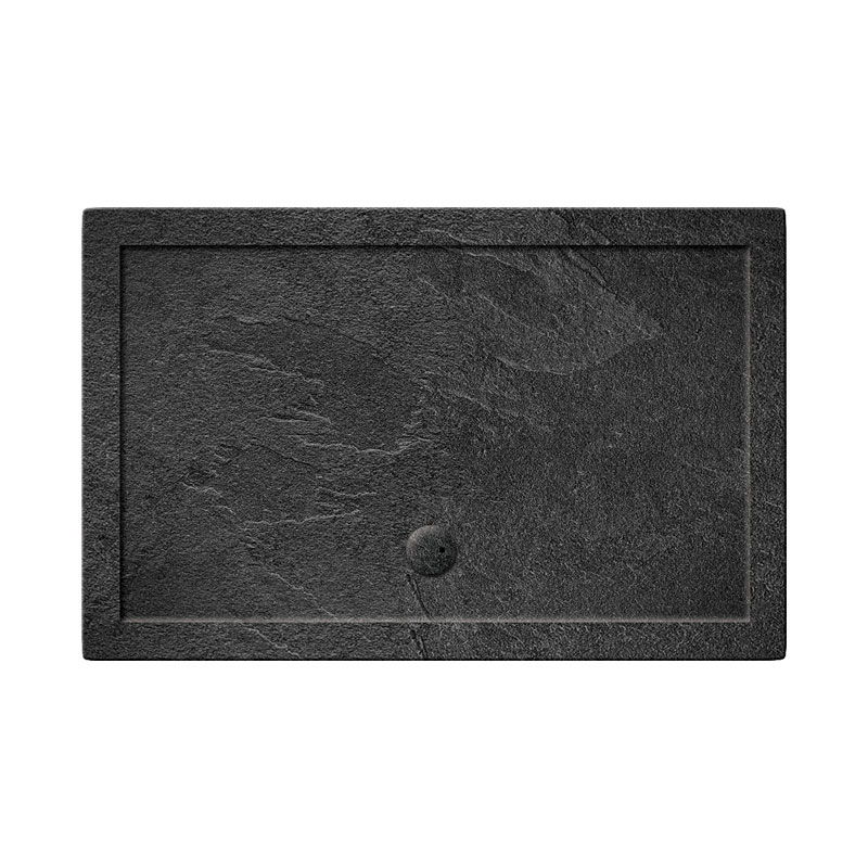 Simpsons Walk In 35mm Grey Slate Acrylic Shower Tray with Waste - Various Size Options Large Image