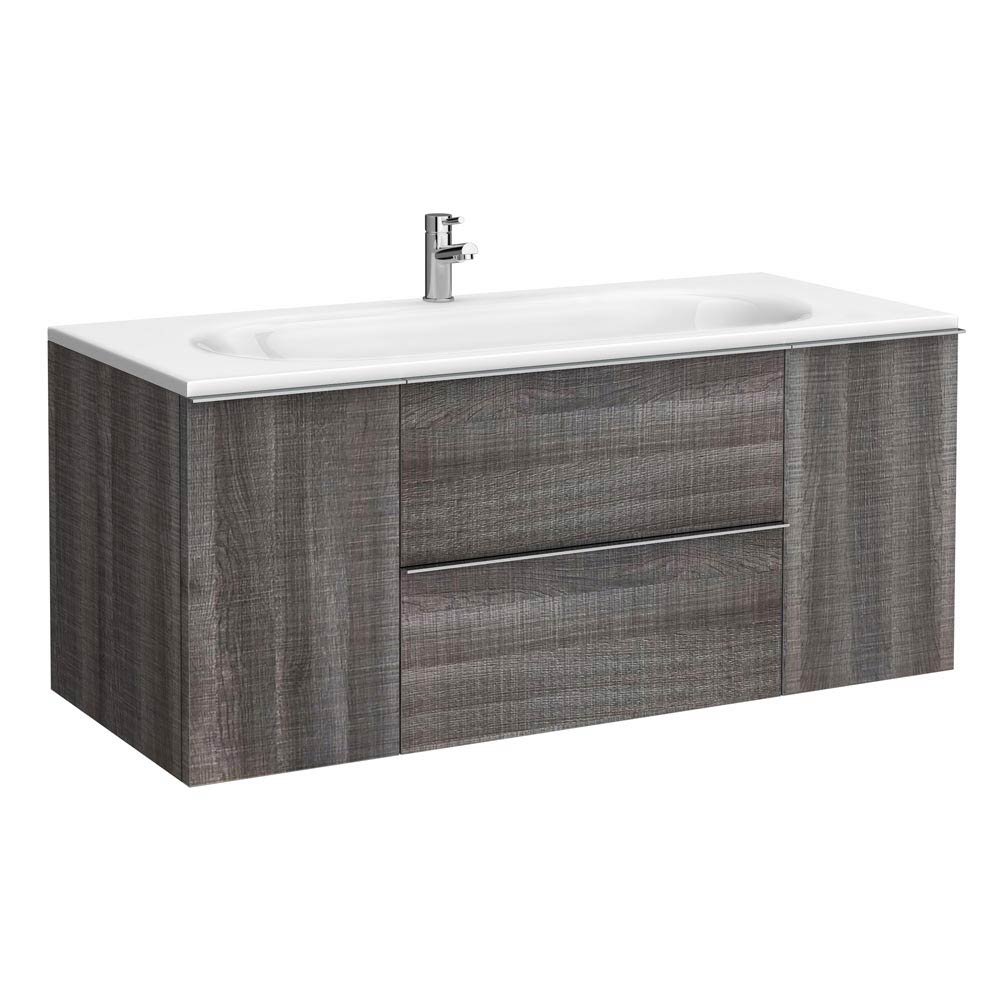 Galloway Wall Hung Vanity Unit (Driftwood - 1200mm Wide) Large Image