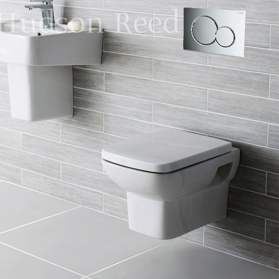 Geberit Duofix Wall Frame with Wall Hung Pan & Sigma 01 Flush Plate Feature Large Image