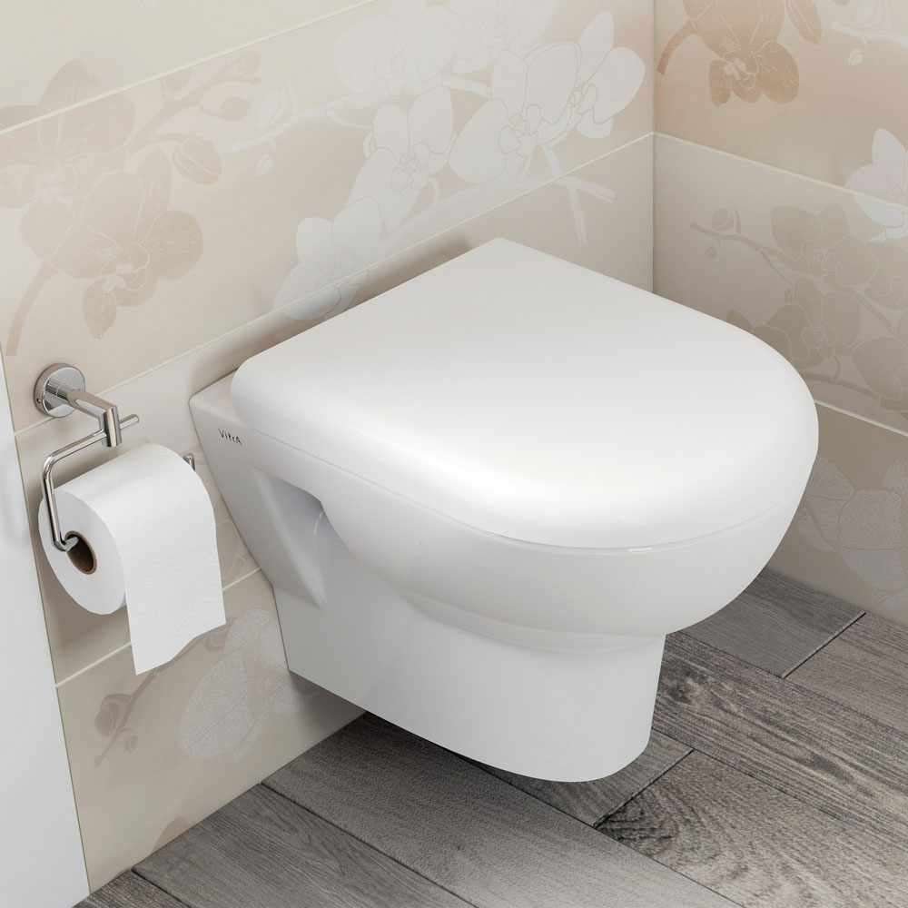 Geberit Duofix Wall Frame with Zentrum Wall Hung Pan & Sigma 01 Flush Plate profile large image view 2