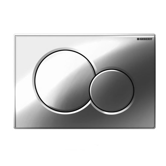Geberit Duofix Wall Frame with Zentrum Wall Hung Pan & Sigma 01 Flush Plate profile large image view 3