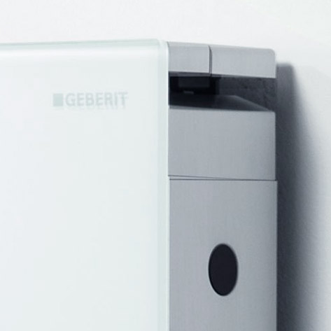 Geberit - Monolith WC Frame & Cistern for Wall Hung WC's - White/Aluminium profile large image view 2