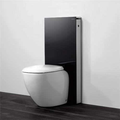 Geberit - Monolith WC Unit & Cistern for Floorstanding WCs - Black/Aluminium
