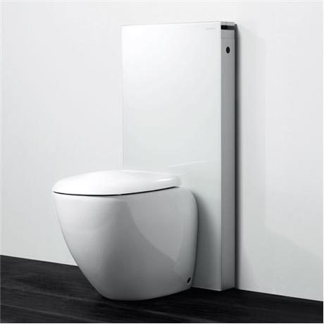 Geberit - Monolith WC Unit & Cistern for Floorstanding WCs - White/Aluminium