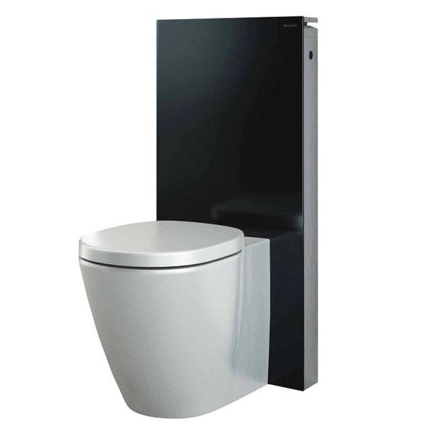 Geberit - Monolith WC Unit & Cistern for Floorstanding WC's - Black/Aluminium profile large image view 2