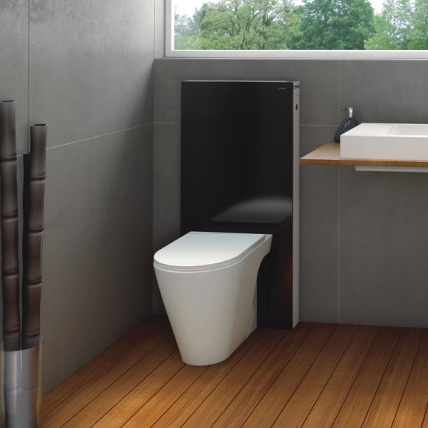 Geberit - Monolith WC Unit & Cistern for Floorstanding WC's - Black/Aluminium profile large image view 3