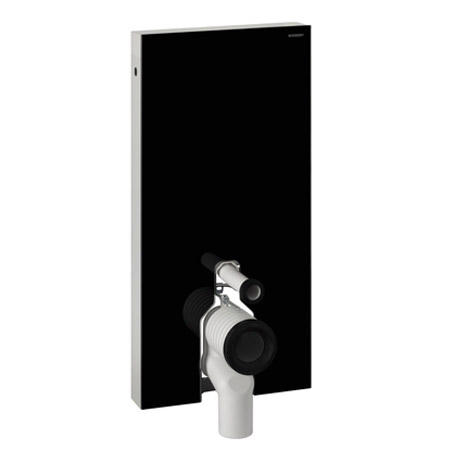 Geberit - Monolith WC Unit & Cistern for Floorstanding WCs - Black/Aluminium In Bathroom Large Image