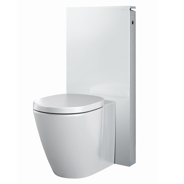 Geberit - Monolith WC Unit & Cistern for Floorstanding WC's - White/Aluminium profile large image view 2