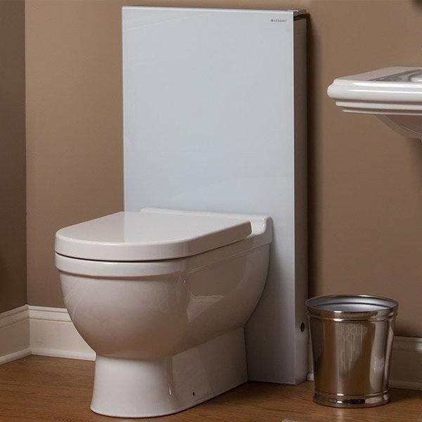 Geberit - Monolith WC Unit & Cistern for Floorstanding WC's - White/Aluminium profile large image view 4