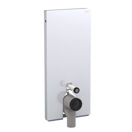 Geberit - Monolith WC Unit & Cistern for Floorstanding WC's - White/Aluminium profile large image view 5