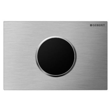 Geberit Sigma10 Brushed + Polished Steel Touchless Automatic Flush for UP320 Cistern