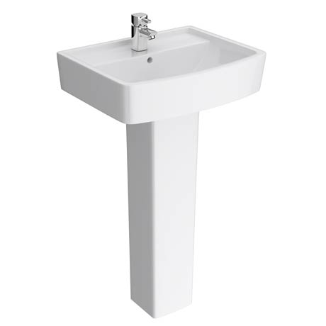Genova Modern Basin with Pedestal - 1 Tap Hole