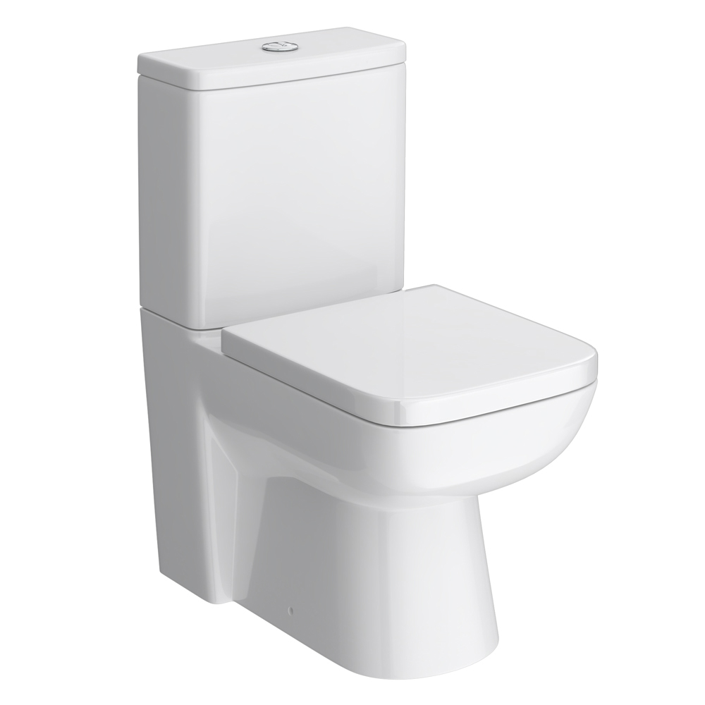 Genova Modern Short Projection 585mm Toilet with Soft Close Seat Profile Large Image
