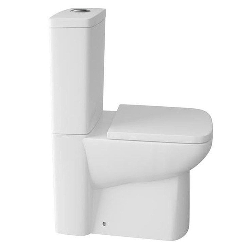 Genova Modern Short Projection 585mm Toilet with Soft Close Seat Large Image
