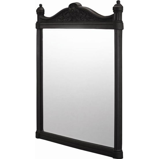 Burlington Georgian Mirror with Black Aluminium Frame - T47BLA Large Image