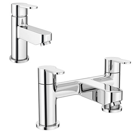 Gio Modern Tap Package (Bath + Basin Tap)