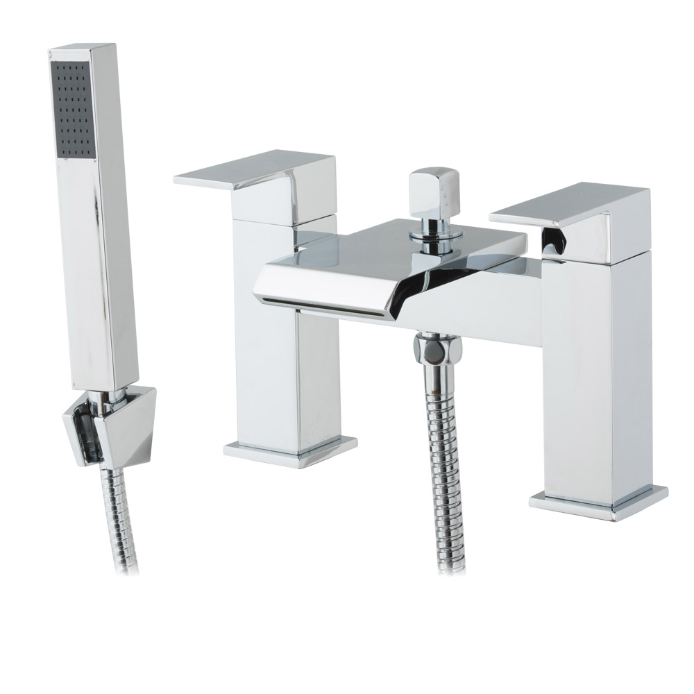 Glacier Waterfall Bath Shower Mixer with Shower Kit Large Image