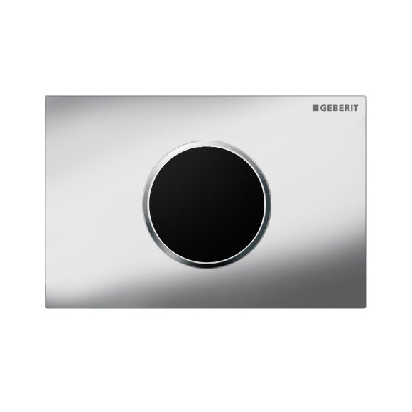Geberit - Touchless Automatic Flush for UP320 Cistern - Sigma 10 - Gloss Chrome and Matt Chrome profile large image view 1
