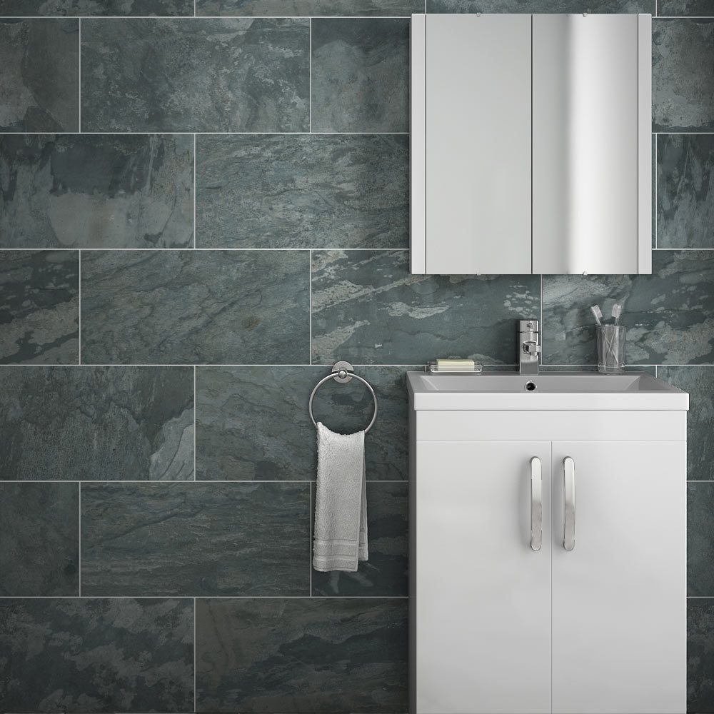 Grado Anthracite Tile Matt Textured 600x300mm