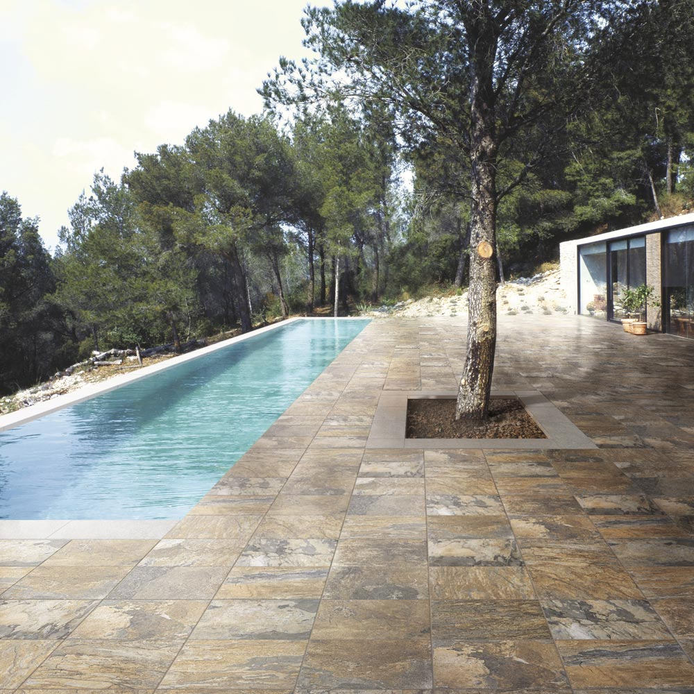 Grado Brown Tile (Matt Textured - 600 x 300mm) Profile Large Image