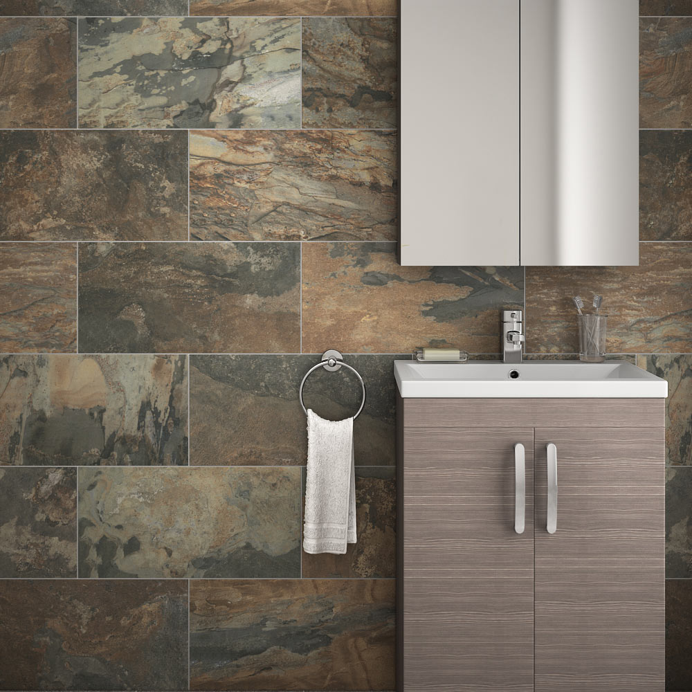 Fliesen Bad Braun: Grado Matt Textured Brown Tile