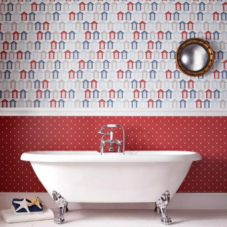 Graham & Brown - Beside the seaside Bathroom Wallpaper - 20-272 | 17 Stylish Bathroom Wallpaper Ideas