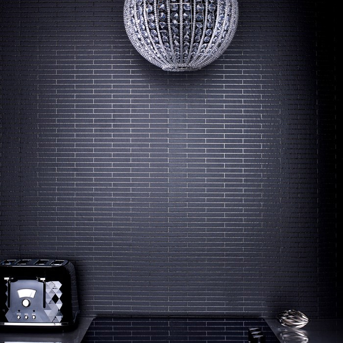 Graham & Brown - Black Sparkle Bathroom Wallpaper - 20-295 Large Image