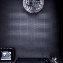 Graham & Brown - Black Sparkle Bathroom Wallpaper - 20-295 Medium Image