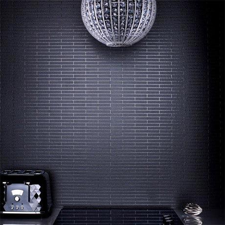 Graham & Brown - Black Sparkle Bathroom Wallpaper - 20-295