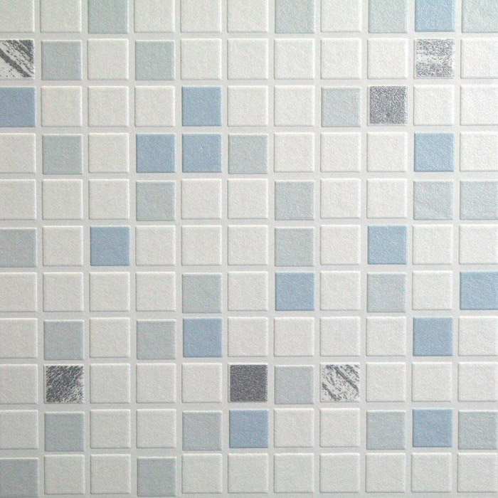 Graham & Brown - Blue Checker Bathroom Wallpaper - 18091 Profile Large Image