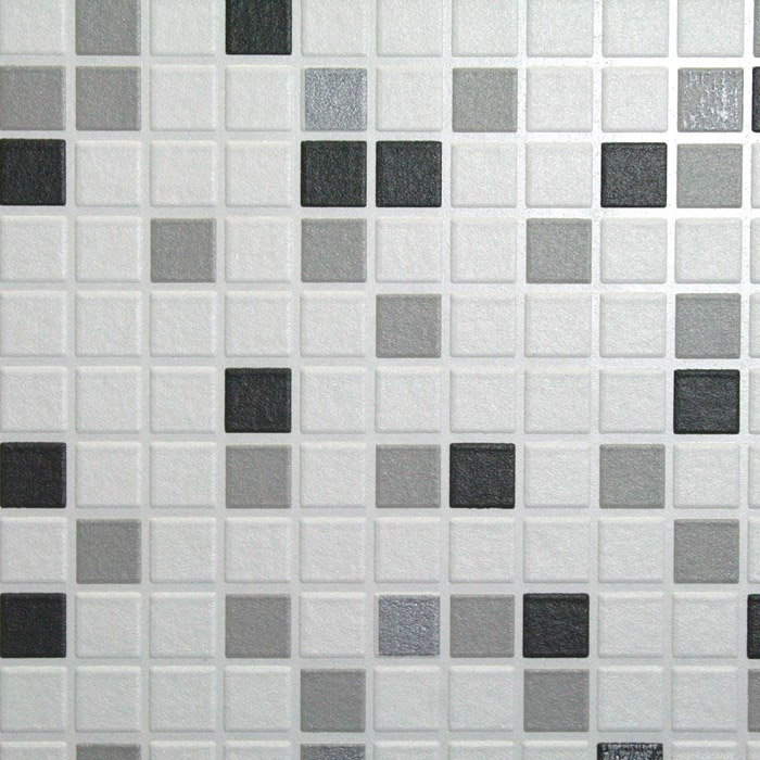Graham & Brown - Black Checker Bathroom Wallpaper - 19167 Profile Large Image