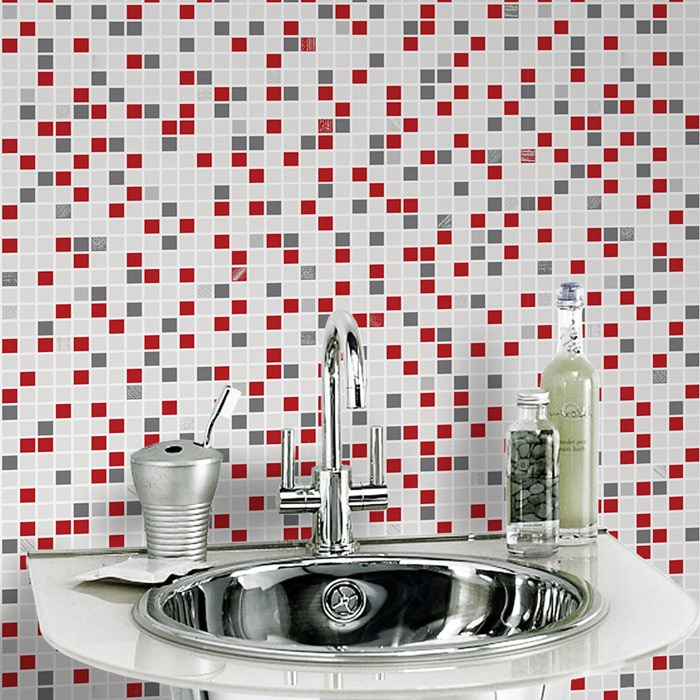 Graham & Brown - Checker Rouge Bathroom Wallpaper - 20-508 Large Image