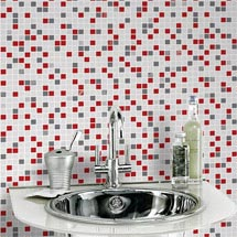 Graham & Brown - Checker Rouge Bathroom Wallpaper - 20-508 Medium Image