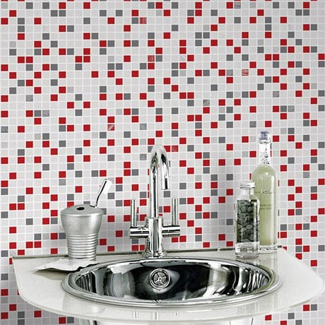 Graham & Brown - Checker Rouge Bathroom Wallpaper - 20-508