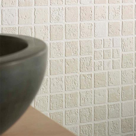 Graham & Brown - Earthen Cream Bathroom Wallpaper - 16617