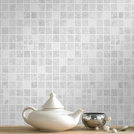 Graham & Brown - Earthen Grey Bathroom Wallpaper - 18092